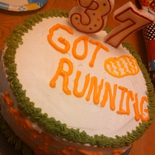 My Wife Deborah made me a running cake for my 37th Birthday