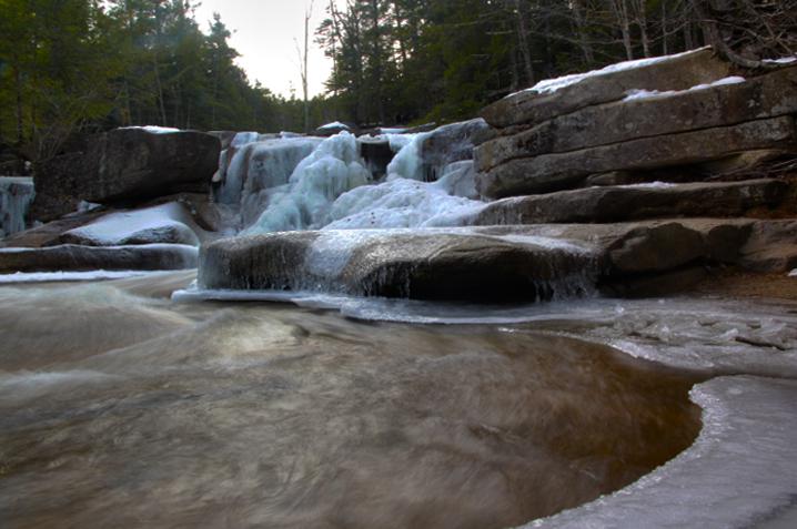 Diana's Bath New Hampshire in Winter